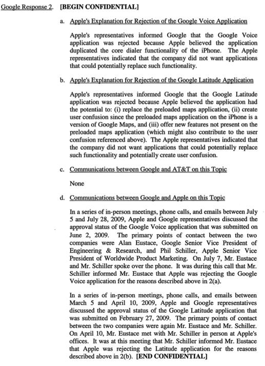 Google letter to FCC