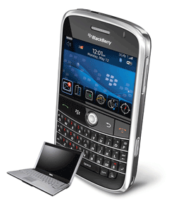 BlackBerry vs. Laptop