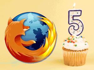 Firefox is Five
