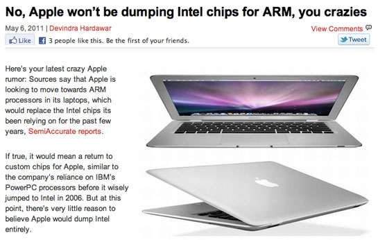 Apple Moving Macs to ARM? If History is Any Guide, That's…Entirely