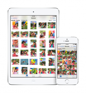 iOS 8's new Photos on an iPad and an iPhone