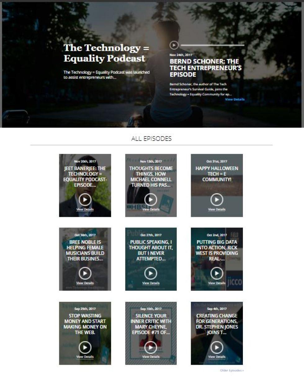 http://technologyequality.podbean.com/