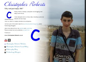 Christopher Roberts about.me Profile