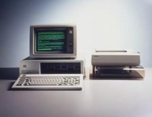 An IBM 5150 PC
