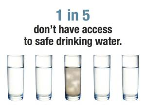 One in Five People Don't Have Access to Safe Drinking Water