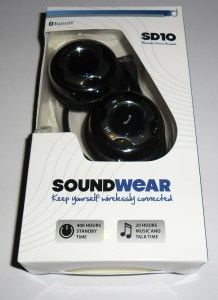 SoundWear SD10 Bluetooth Headset in packaging