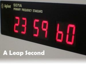 23:59:60 - a leap second
