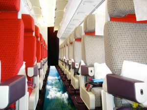 Glass-bottomed planes