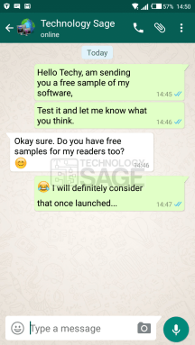 create a fake WhatsApp chat