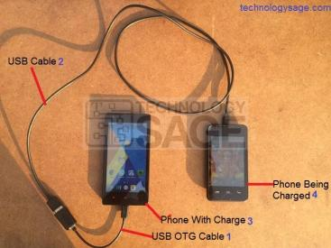 Charge Android Phone Using Another Phone