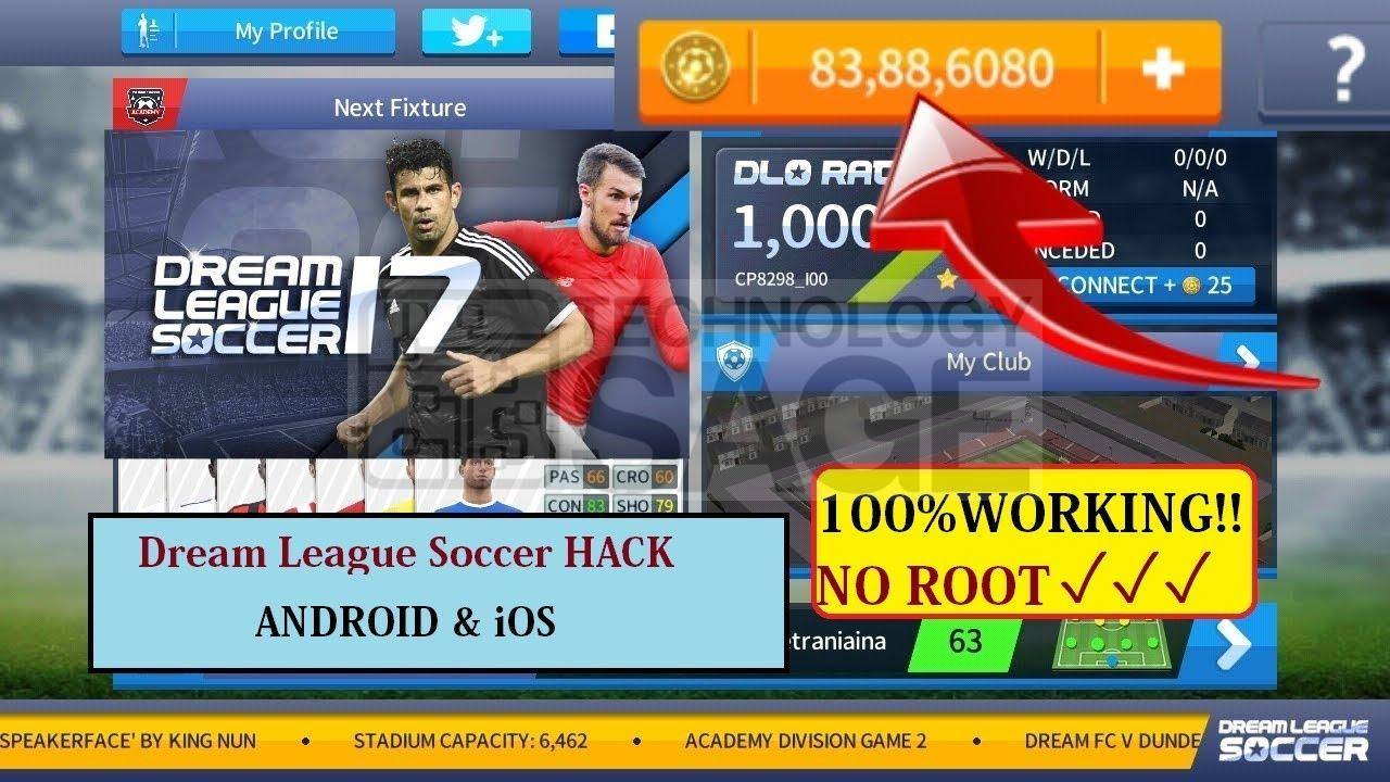 Dream League Soccer 2017 Hack MOD APK cheat for Unlimited Coins