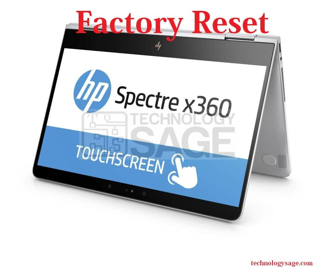 How to factory reset HP Spectre X 30 Laptop computer