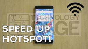 How to make android hotspot faster