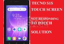 Tecno S1S Touch screen not responding