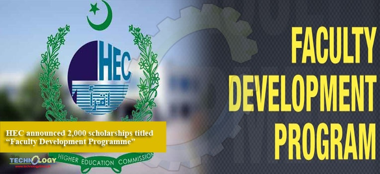 """HEC announced 2,000 scholarships titled """"Faculty Development Programme"""""""