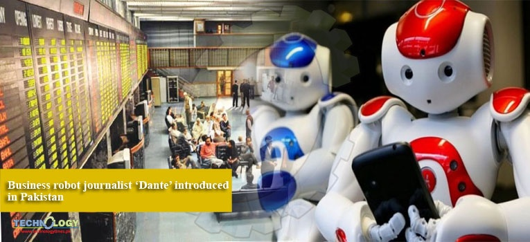 Business robot journalist 'Dante' introduced in Pakistan
