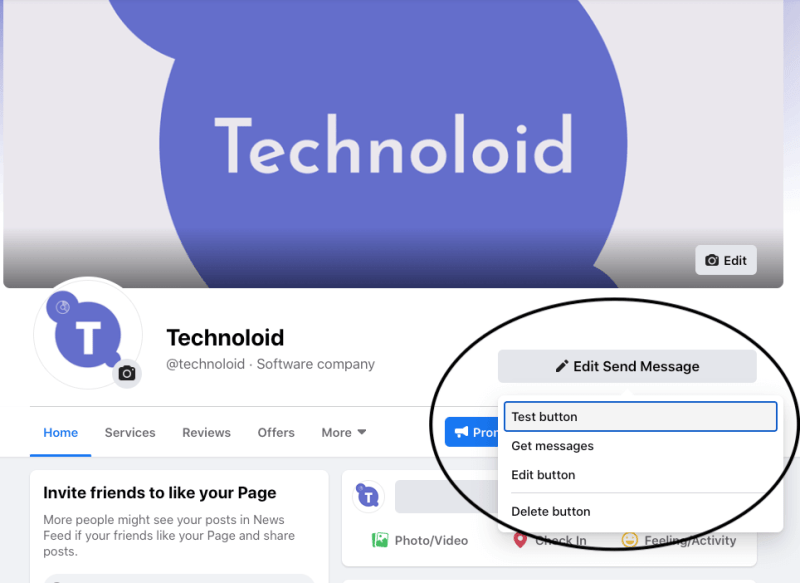 Facebook Messenger Chatbot call to action