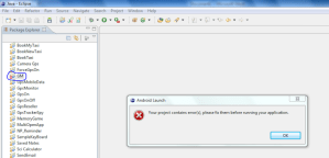"Check Root Cause & Solve ""Your Project Contains Errors.Please Fix Them Before Running Your Application"" Error In Android"