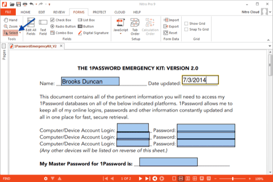 engineering: How to create a fillable pdf and interactive pdf forms?