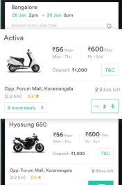 Wheelstreet Bike Rental App
