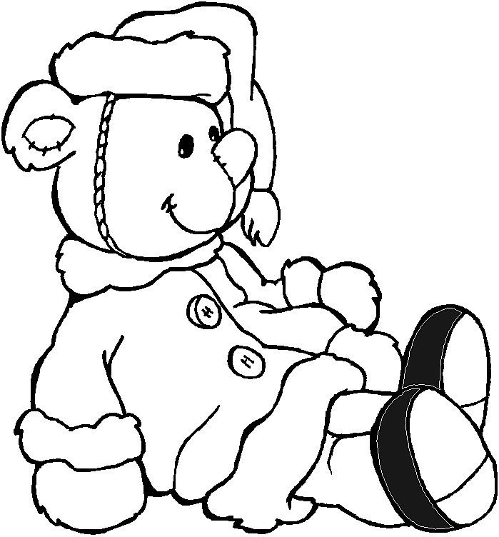 pics photos teddy bear coloring pages momma bear with cake