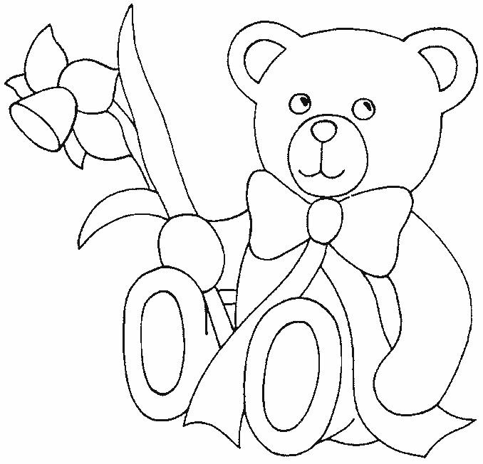 teddy bear coloring page image jpg
