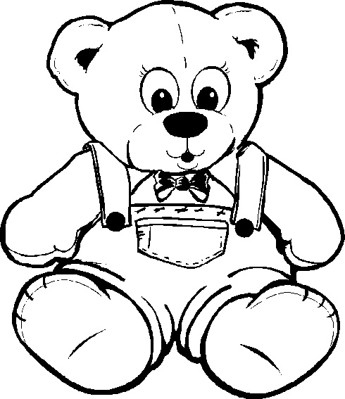 teddy bear colouring pages page 2