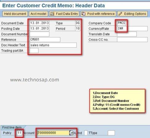 sap credit memo process what is credit memo