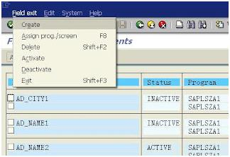 Create Field Exits in SAP - Step by Step Procedure