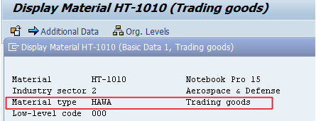 SAP Trading Goods Transaction Code MMH1 - Step by Step