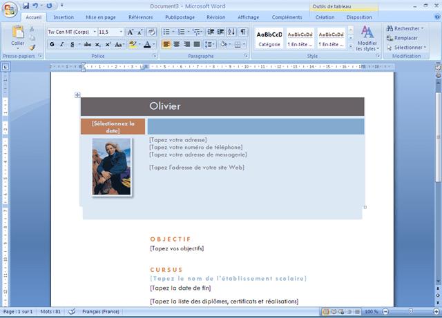 Exemple Page De Garde Word 2007 Le Meilleur Exemple