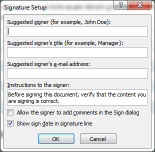 Create Signature Box in Word