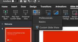 custom slide show PowerPoint