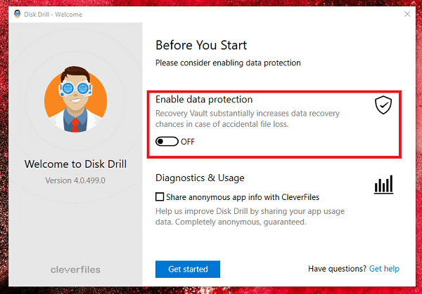 Data Protection using Disk Drill in Windows 10