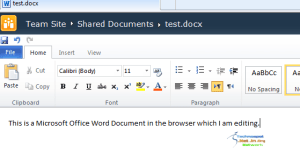 Editing Office Document in Browser