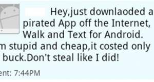 Fake Android app to embarrass Pirates sends an SMS telling every contact in your phone book about your attempt to steal