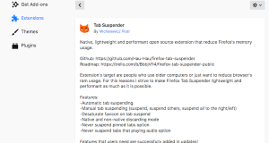 Firefox background Tab suspendor