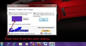Free Download Windows 7 Taskbar Color Changer