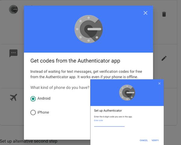 setup Google Authenticator Phone Reset