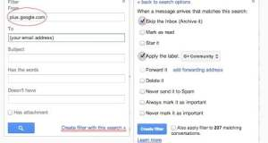 Google Plus community Filter