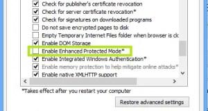 IE 10 Desktop Enhanced Protection Mode