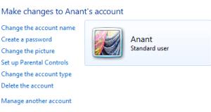 Manage Windows User Account