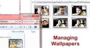 Managing Windows 7 Wallpapers