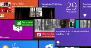 Notifications on Windows 8 Live Tiles