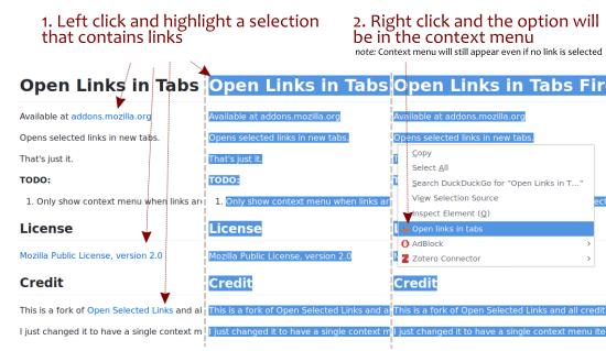 Open Multiple Links in Tab