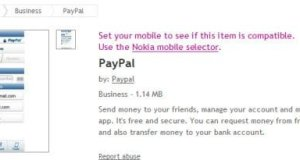 PayPal app for Nokia Phones