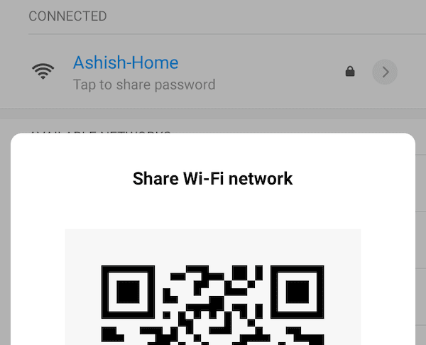 QR code for Sharing Wifi