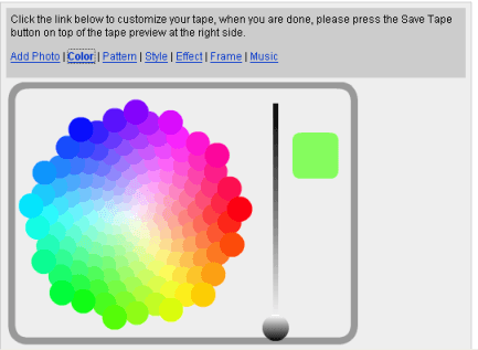 Select Colour Pattern for Flash in Mobile