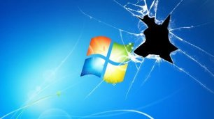 Shattered Broken Windows Wallpaper