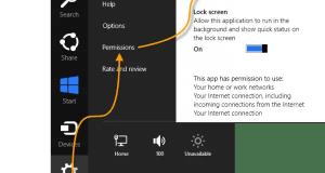 Skype App Settings for Windows 8